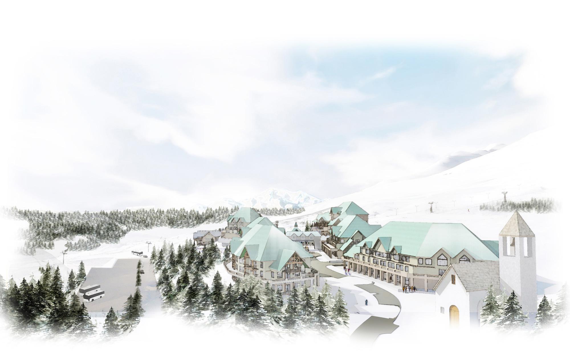 Valemount Glacier Resort Village Looking South
